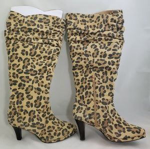 HOT IN HOLLYWOOD knee high slouch boots 9.5W